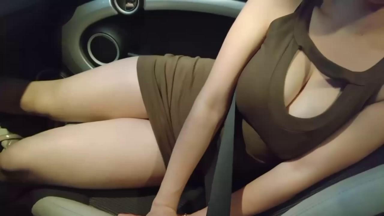 Masturbating in a tight dress